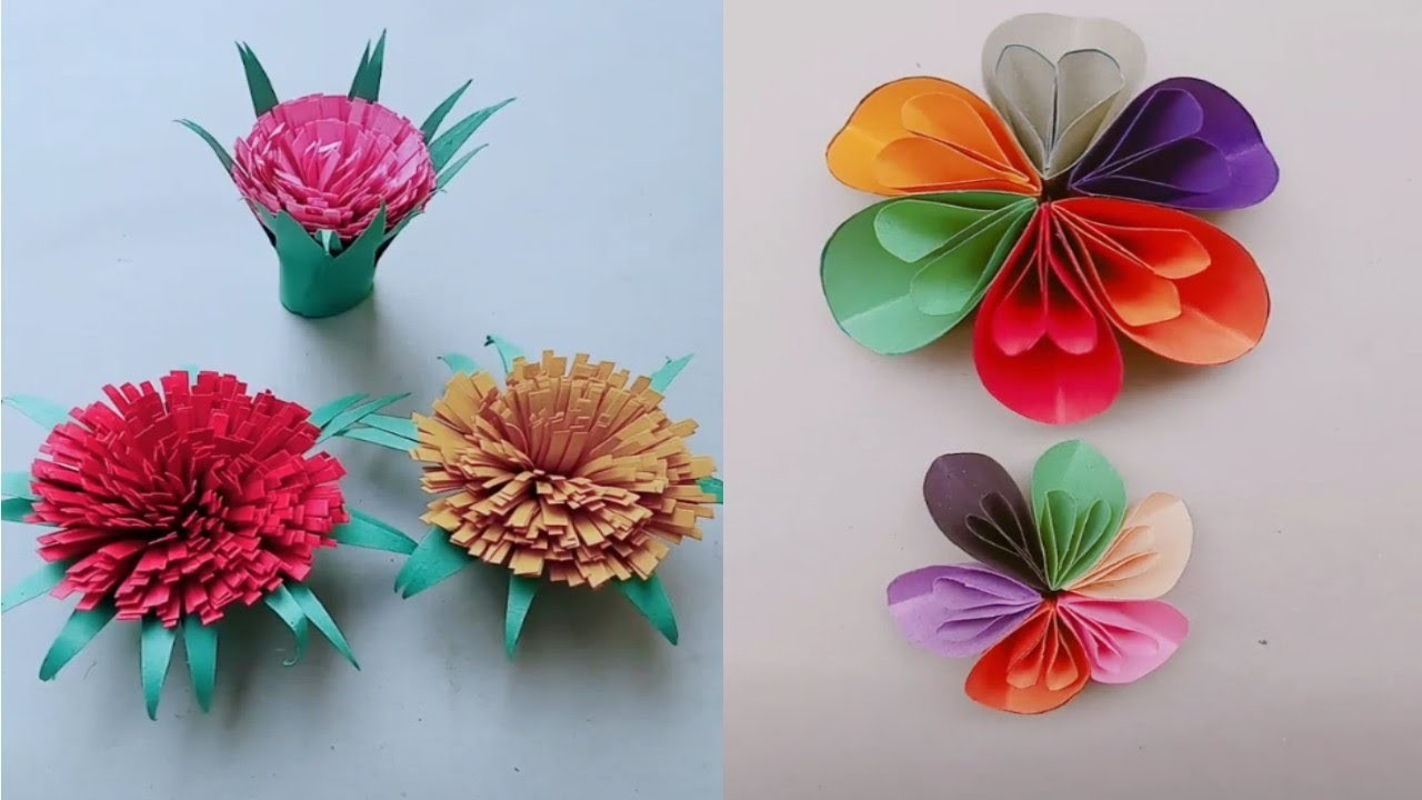 how to make flower paper easy