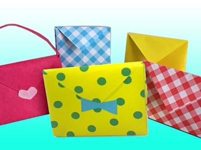 How to make Simple & Cute Paper Hand Bag - Origami Arts