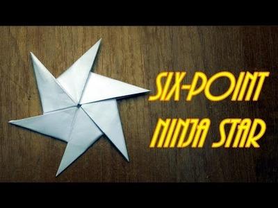 Origami Symmetrical Shuriken Star Tutorial - Paper Kawaii | 300x400