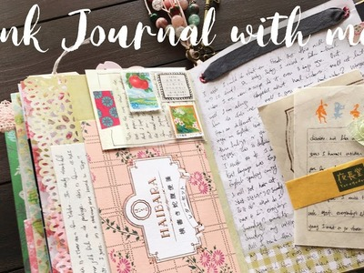 Junk Journal with me | Junk Journaling Process | How I use my Junk Journal