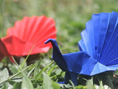 Paper Folding Art (Origami): How to Make Peacock