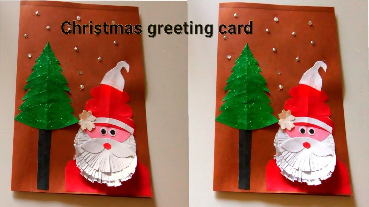 Santa claus christmas card easy || how to make santa christmas greeting card | kristamas crafts