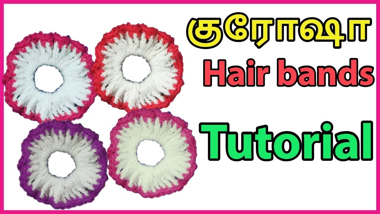 Tamil-Simple Crochet Hair band making Tutorial (All Sizes) | Easy for beginners DIY