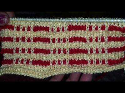 Two colours Knitting design | Easy Knitting Pattern | Knitting design for Cardigan, Jacket, Blankets