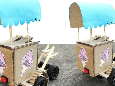 Wow ! Awesome DIY Ice-cream Vehicle | How to make Electrical Bike