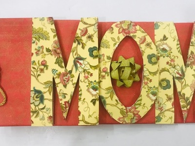 Cutest Scrapbook Idea for MOM | Customized Letter Card | Mother's Day Album Tutorial