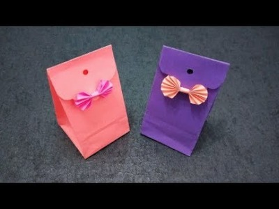 How to make an Origami Gift Bag | Paper Gift Bag | DIY paper crafts | Easy Origami Tutorial