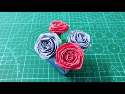 Making Paper Roses: How to Make Giant Spiral Center Paper Roses ... | 300x400