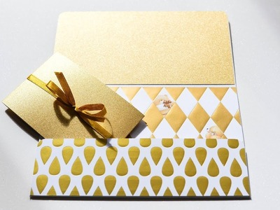 How to make : Elegant Envelope for Birthday | Elegancka Koperta na Urodziny - Mishellka #345 DIY
