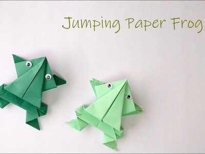 How to make Jumping Paper Frog | Origami Frog | Quick paper toys | Crafts under 5 minute