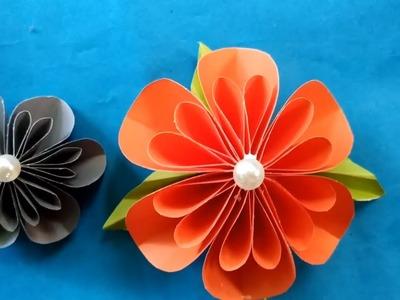 How to make papar flower???????? | craft paper flower | kagojer ful banano