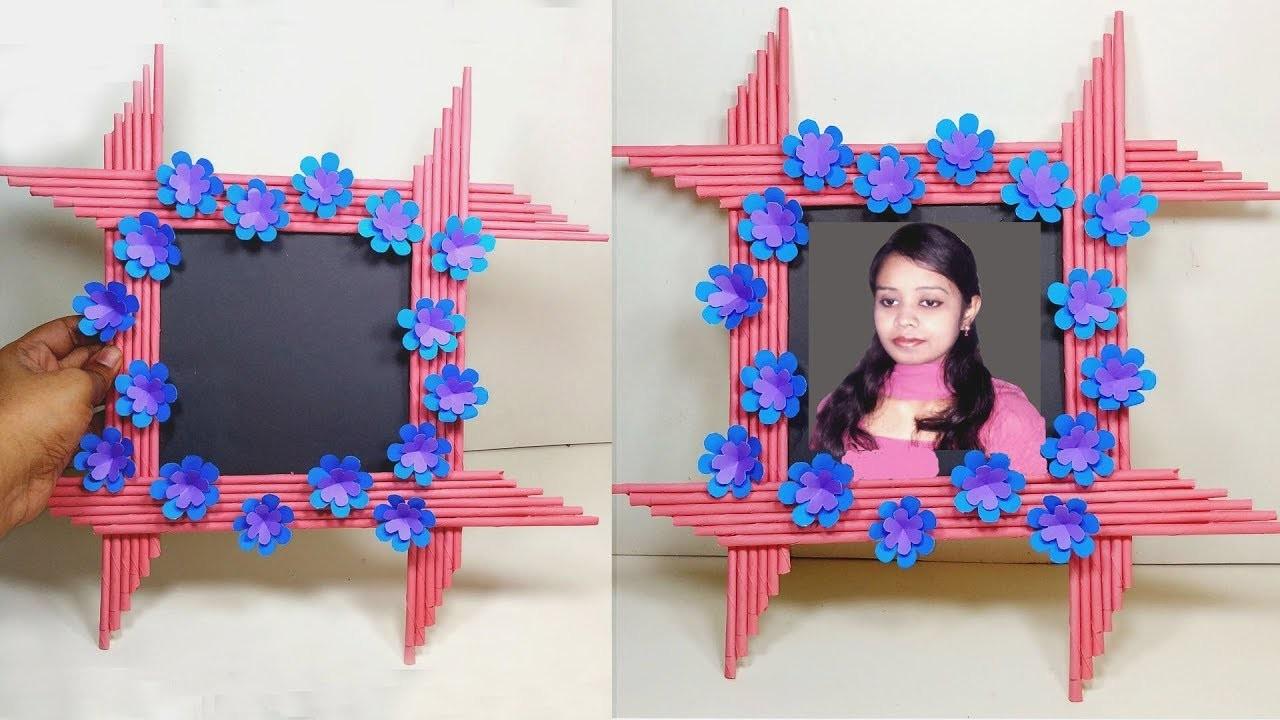 How to Make Very Beautiful Paper Photo Frame!! DIY Photo Frame | Jarine's Crafty Creation