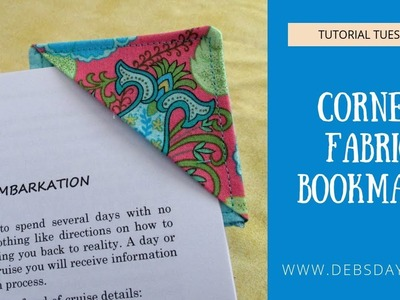 How to Sew a Quick & Easy Corner Bookmark