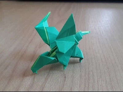 ORIGAMI - how to make a paper dragon #1