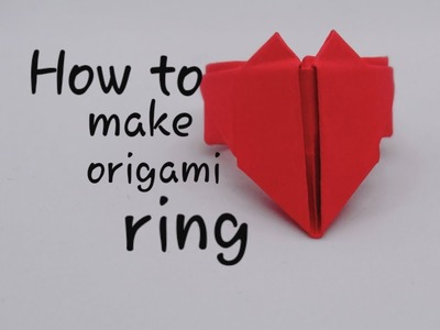 How to make origami ring | 300x400
