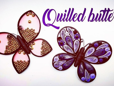 Quilling butterfly   how to make quilled butterfly   Magic Quill