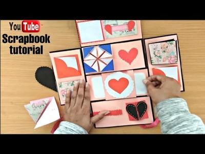 Scrapbook for beginners | scrapbook tutorial | how to make a scrapbook | scrabook for birthday