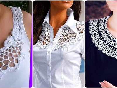 Top Stylish Casual Dresses Neck Style.Blouse And top Neck Designs |Crochet Round Neck Designs