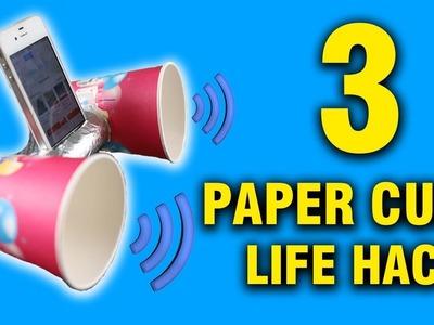 3 CREATIVE LIFE HACKS USING PAPER CUPS EVERYONE SHOULD TRY | DIY | Simple Things