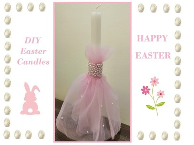 DIY Easy Easter Candle
