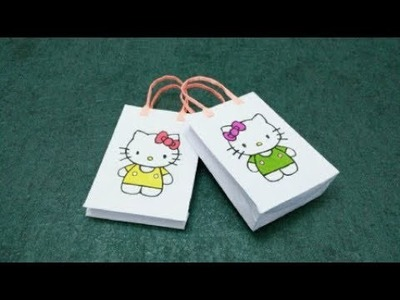 DIY Hello kitty Paper Bag | DIY paper crafts | Easy Origami step by step Tutorial