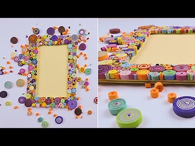 DIY How To Make Photo Frame from Quilling