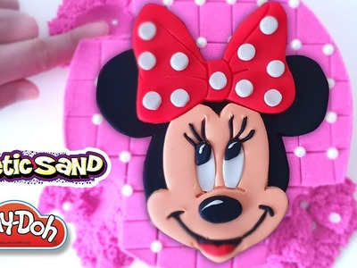 DIY Minnie Mouse Pearl Cake Kinetic Sand & Play Doh Art - CLAY ART TV