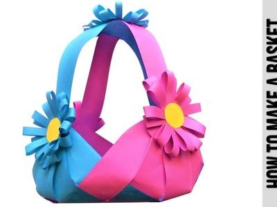 DIY Paper Basket : How To Make Easy Paper Basket For Chocolates ???? Christmas Gift Basket Tutorial