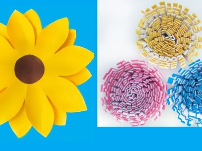 DIY Paper Flowers   Very Easy and Simple Flower Making   CraftBlossom