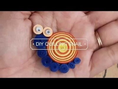 DIY Paper Quilling Snail |  Paper Quilling | Paper Crafts