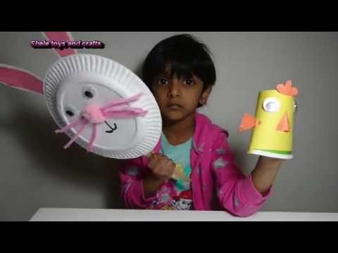 Easy Easter crafts for kids|paper plate bunny|paper cup chick|paper plate crafts|kids art