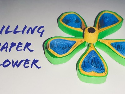 Easy Quilling Paper Flower   Paper Flower Making   The Best Crafts