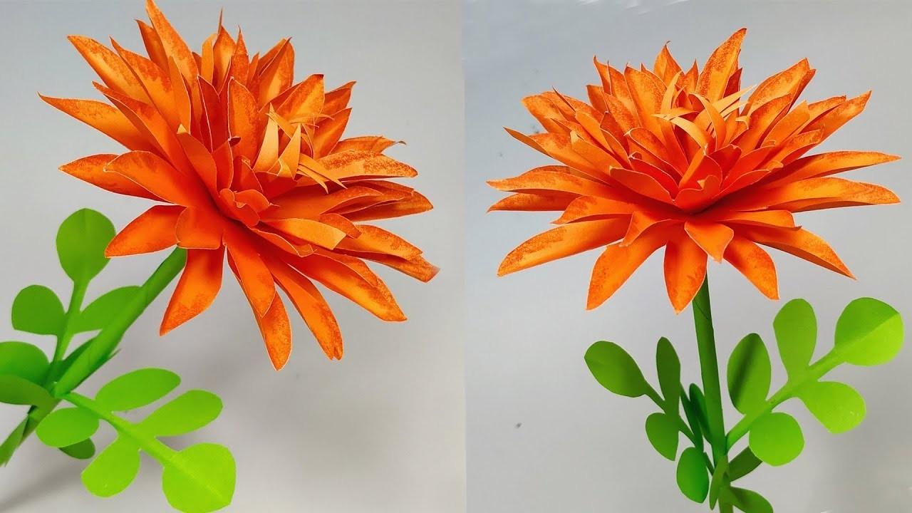 Flower Making: DIY Easy Making Pretty Stick Paper Flower! Paper Crafts   Abigail Paper Crafts
