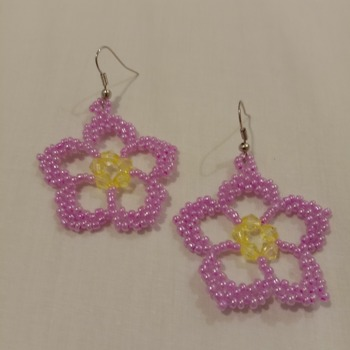 Handmade Sakura Flower Earrings