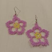 Handmade Sakura Flower Earrings