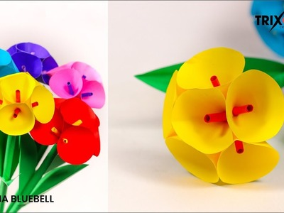How to Make Beautiful Flower with Paper - Making Paper Flowers Step by Step - Trixbookcraft