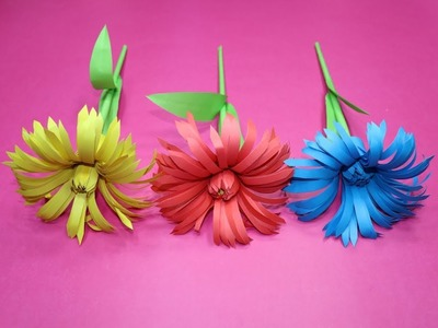 How to Make Paper Flowers Step by Step | Easy Flower Making | How to Make 20 Different Paper Flowers