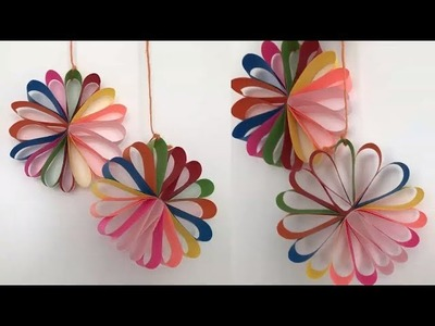 Multi Colored Hanging Paper Circle For Christmas DIY. KOMPI ART