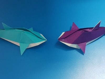 Origami art - Gấp Con Cá Heo || How To Make Dolphin
