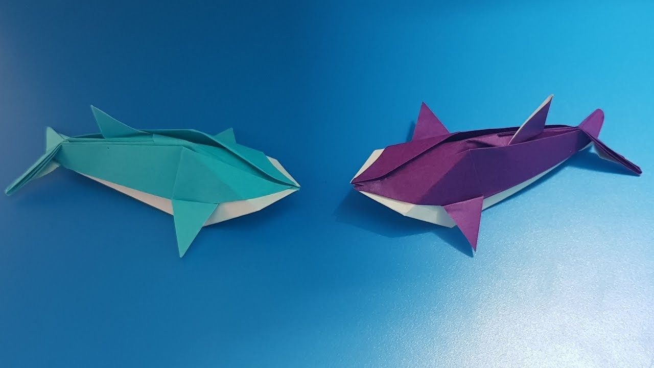 Origami art - Gấp Con Cá Heo    How To Make Dolphin