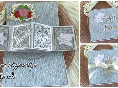 Pop Out Card Tutorial feat Spellbinders Amazing Paper Grace Die of the Month Club April 2019
