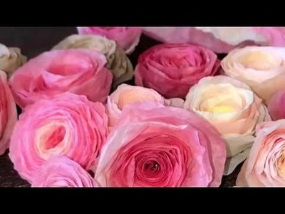 TUTORIAL Quick Easy Rolled Paper Rose Coffee Filter Flowers Rosette