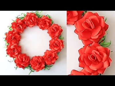 Wall Decoration Ideas | Beautiful Wall Hanging Making at Home | Paper Flower Wall Hanging 0603