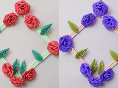 WOW.  Beautiful Paper Craft Idea    DIY Paper Wall Decor