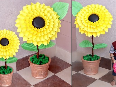 WOW!!! DIY Room CORNER Decoration !!! Paper Flowers Handmade Things