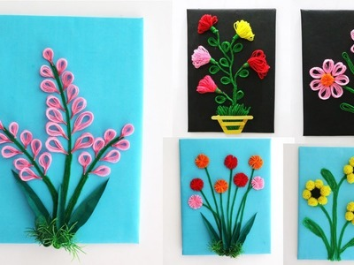 5 Best DIY Room Decorating Ideas    wool wall handing idea    art and craft