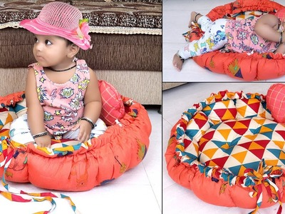 Baby's BED !!! Genius DIY Round Shaped  Baby Bedding Idea From Old Cloths  !! How to.