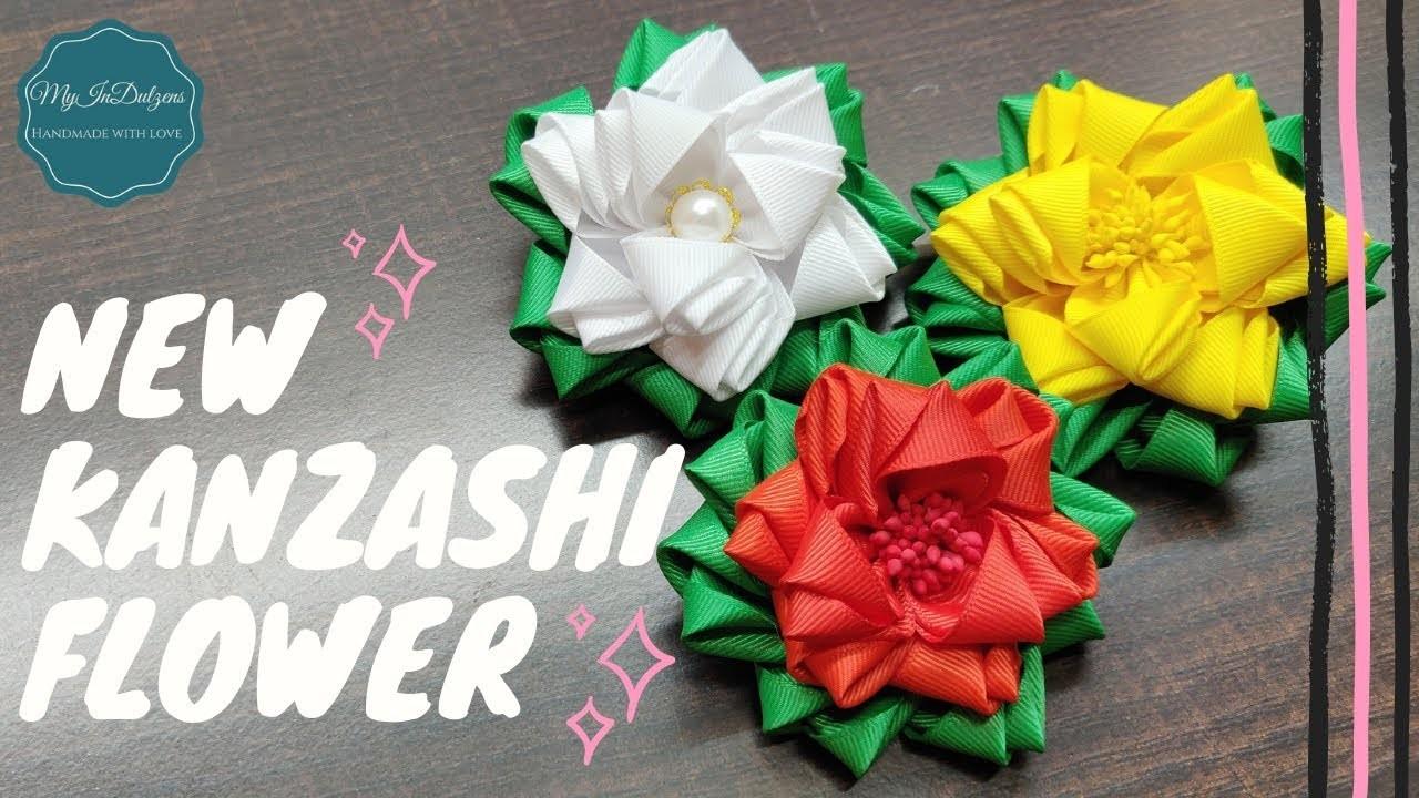 D.I.Y. New Kanzashi Flower | MyIndulzens