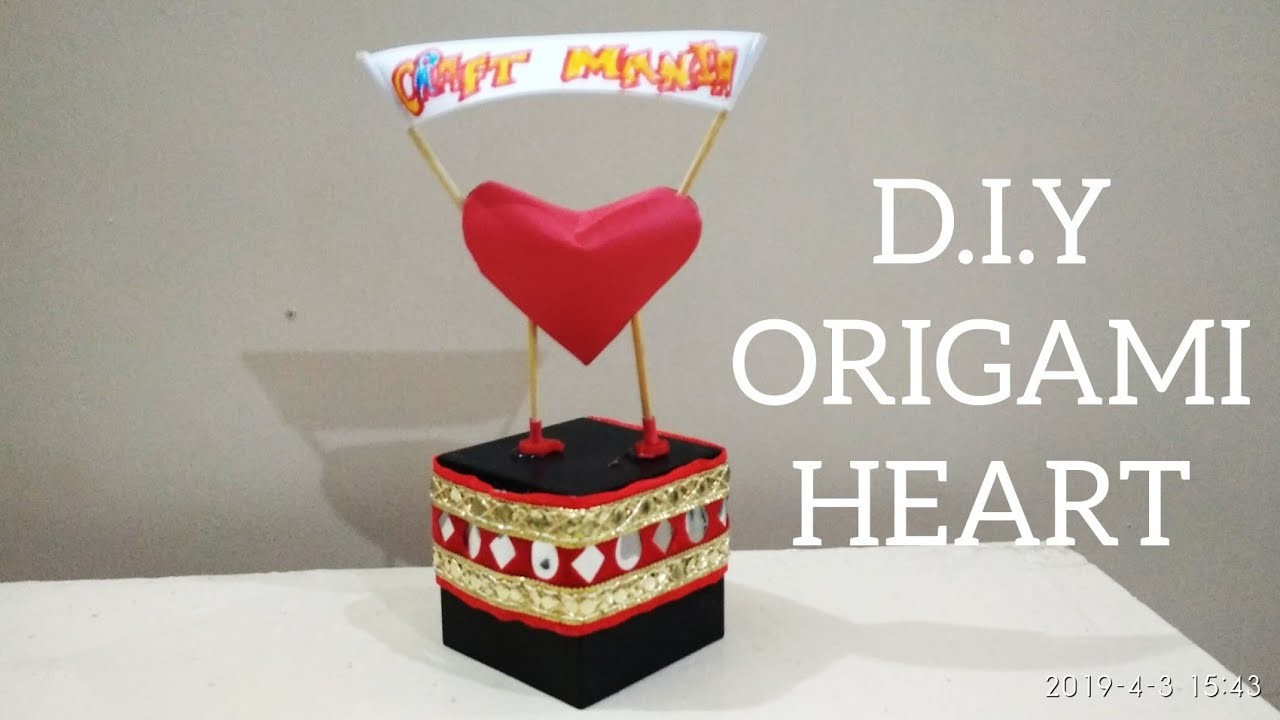 D.I.Y ORIGAMI HEART