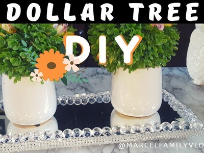 DIY ????BANDEJA DE ESPEJO GLAM DOLLAR TREE ||Dollar Tree DIY  Vanity Tray